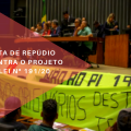 Povos indígenas ocupam congresso nacional em defesa do apoio irrestrito aos seus direitos originários. Contra ao PL que regulamenta mineração e empreendimentos em terras indígenas.