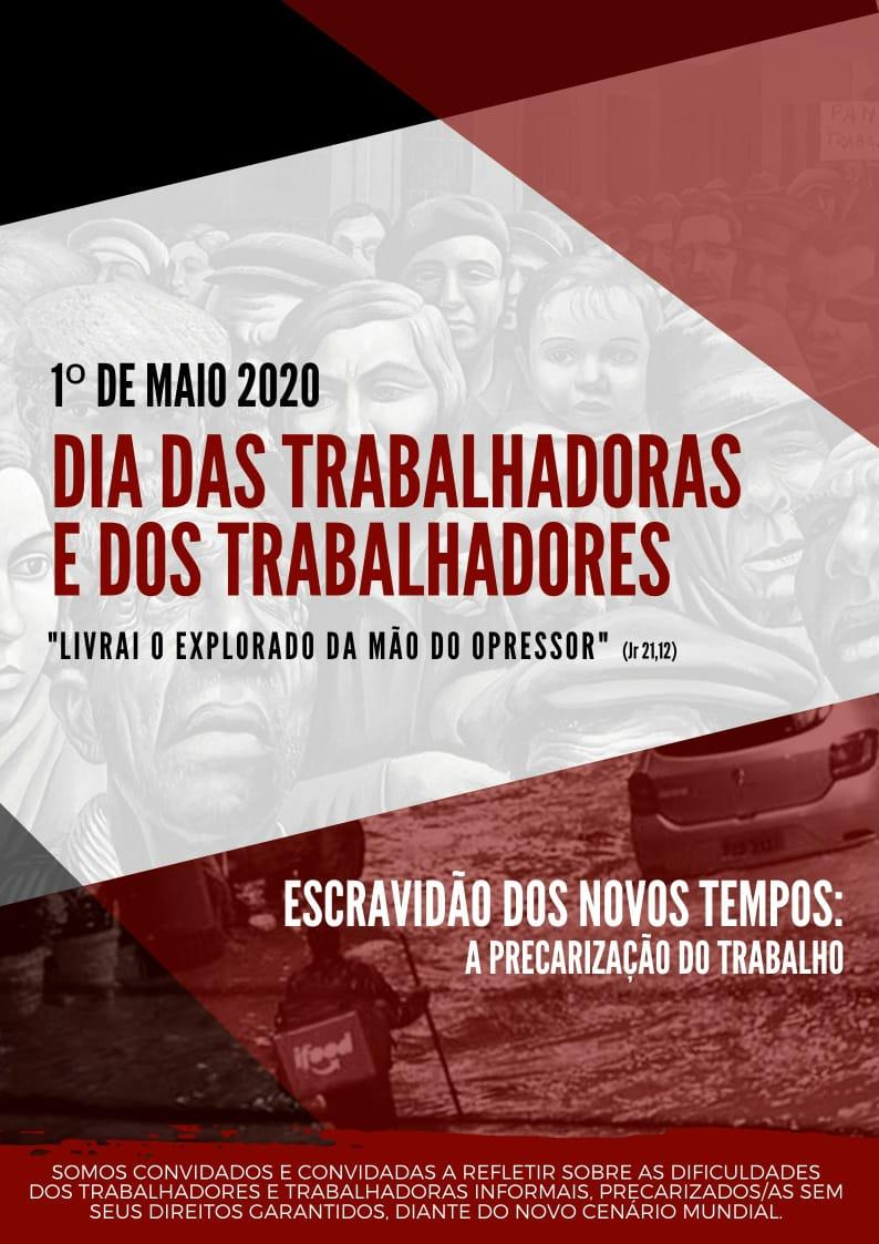 1º de MAIO de 2020 – Dia das Trabalhadoras e dos Trabalhadores