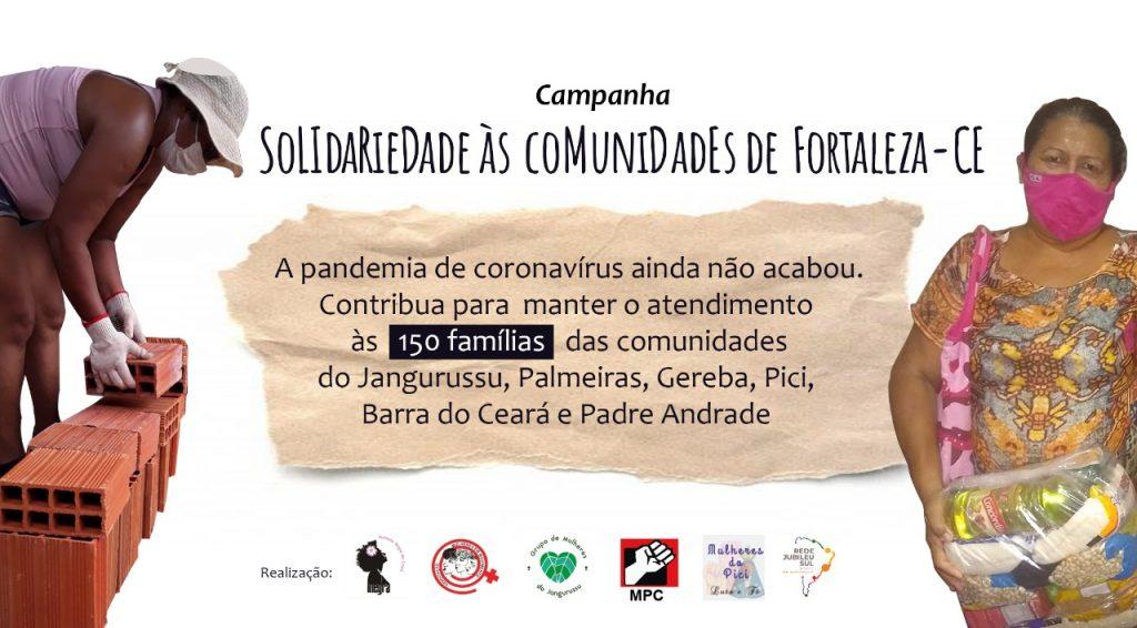 Solidariedade às comunidades de Fortaleza (Ceará)