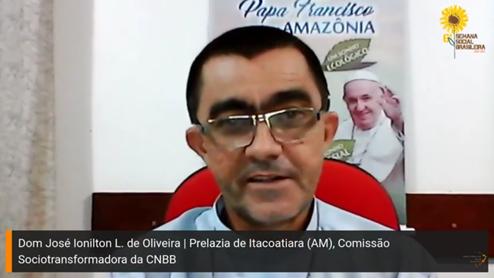 Dom José Ionilton Lisboa de Oliveira, bispo da Prelazia de Itacoatiara (AM), membro da Comissão Sociotransformadora da CNBB